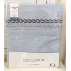 ANNE DE SOLENE PARIS King Flat Sheet